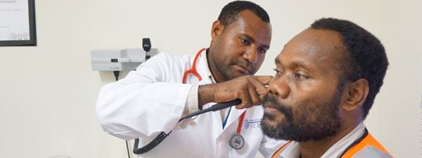 PNG doctor and patient